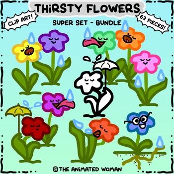 Thirsty Flowers Clip Art Super-Set BUNDLE