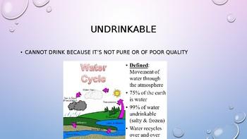 Thirsty Planet- Vocabulary (Thirsty Planet Unit)