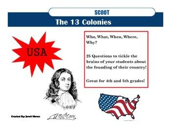 Thirteen 13 Colonies Scoot