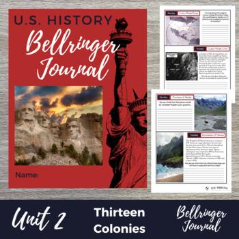 Thirteen Colonies 25 Bellringers Warm Ups - DBQ w/ Answer Key