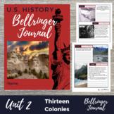 Thirteen Colonies 25 Interactive Warm Ups - DBQ Bellringer