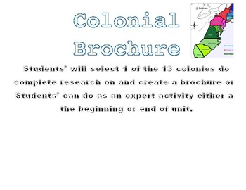 Thirteen Colonies Brochure
