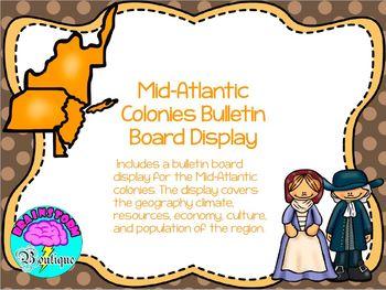 Thirteen Colonies Bulletin Board Display Bundle