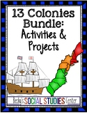 Thirteen British Colonies Bundle: Readings, Activities & Projects