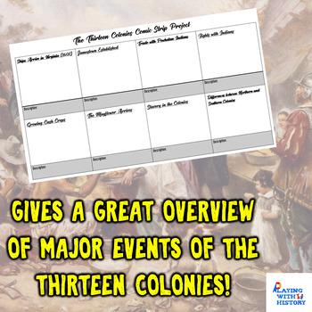 Thirteen Colonies Comic Strip Project