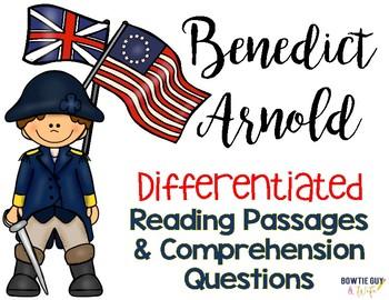 Benedict Arnold {Differentiated Close Reading Passages & Q