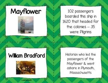 Thirteen Colonies Flash Cards