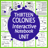 13 Colonies Interactive Notebook (HARD COPY) 13 Colonial America Lessons