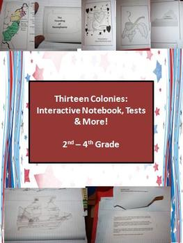 13 Colonies: Interactive Notebook, Test, and Extensions (2nd - 4th Grade)