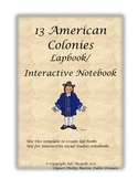 Thirteen Colonies Lapbook or Interactive Notebook