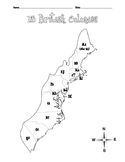 Thirteen Colonies Map Set (4 pages + key)