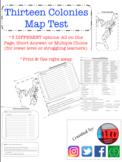 Thirteen Colonies Map Test (13 Colonies)