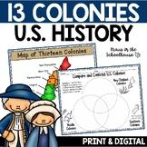 13 Colonies | Thirteen Colonies | TpT Digital Activity Dis
