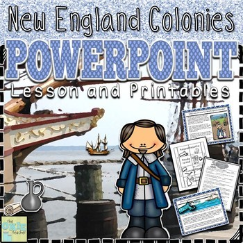 Thirteen Colonies PowerPoint Lesson and Printables Bundle