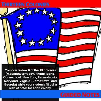 Thirteen Colonies PowerPoint and web notes