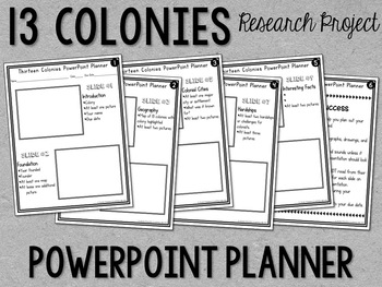 Thirteen Colonies Guided Research Project - 13 Colonies