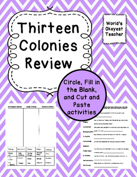 Thirteen Colonies Review