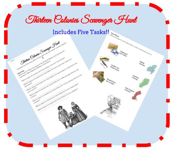 Thirteen Colonies Scavenger Hunt