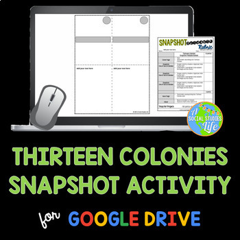 Thirteen Colonies Snapshot Activity