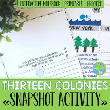 Thirteen Colonies Snapshot Foldable