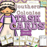 Thirteen Colonies: Southern Colonies Task Card Freebie