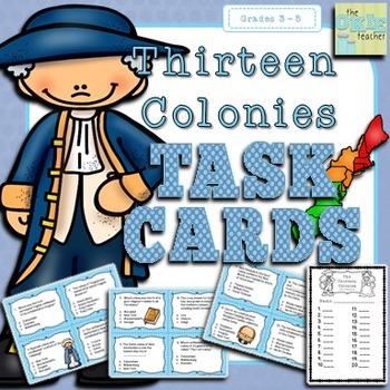 Thirteen Colonies Super Social Studies Task Cards