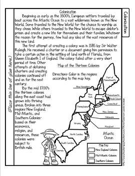 British Colonial America Tab Booklet