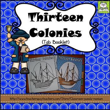 Thirteen Colonies Tab Booklet