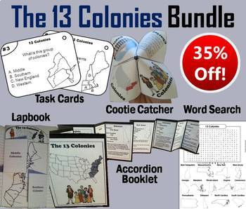 Thirteen Colonies Task Cards and Activities Bundle