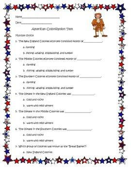 Thirteen Colonies Test