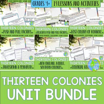 Thirteen Colonies UNIT BUNDLE with BONUS card sets