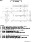 13 Colonies Worksheet/ Crossword Puzzle
