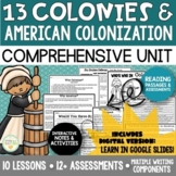 Thirteen Colonies and American Colonization