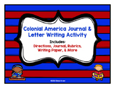 Thirteen Colonies or Colonial America Journal and Letter Activity