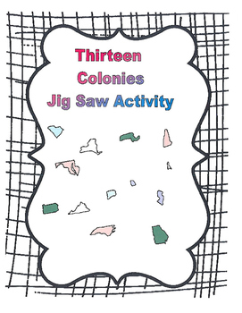 Thirteen Colony Jig Saw Poster Unit