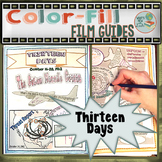 Thirteen Days Color-Fill Film Guide Doodle Notes