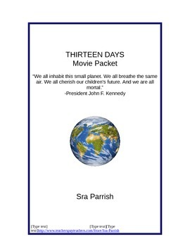 Thirteen Days - Cuban Missile Crisis movie packet