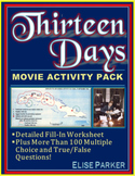 Thirteen Days Movie Activity Bundle -- Cloze Worksheet and Jumbo Question Set!