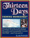 Thirteen Days Movie Viewing Worksheet -- Fill-in Activity