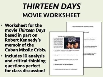 Thirteen Days Movie Worksheet - USH/APUSH