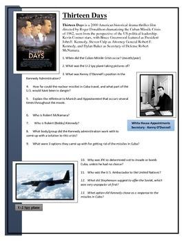 Thirteen Days - Movie worksheet