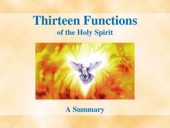 Thirteen Functions of the Holy Spirit