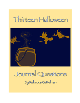 Thirteen Halloween Journal Questions/Journal Prompts