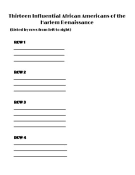 Thirteen Influential African Americans of the Harlem Renaissance
