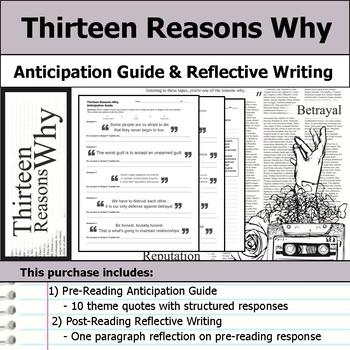 Thirteen Reasons Why - Anticipation Guide & Reflection