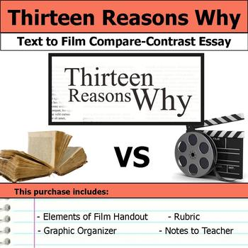 Thirteen Reasons Why - Text to Film Essay Bundle