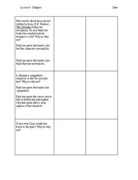 Thirteen Reasons Why Unit Plan - Grade 8