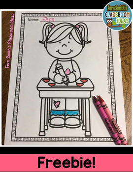 St. Valentine's Day Coloring Page Freebie