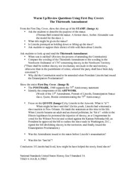 Thirteenth Amendment Warm Up/Review Lesson