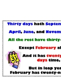 picture regarding Thirty Days Hath September Poem Printable called 30 Times Is made up of September Worksheets Training Components TpT